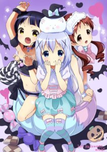 Rating: Safe Score: 60 Tags: gochuumon_wa_usagi_desu_ka? halloween jouga_maya kafuu_chino natsu_megumi thighhighs tippy_(gochuumon_wa_usagi_desu_ka?) waki_(pixiv2609622) User: Mr_GT