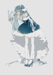 Rating: Safe Score: 31 Tags: dress hatsune_miku heels thighhighs vocaloid zhibuji_loom User: yanis