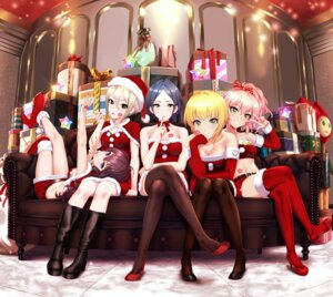 Rating: Safe Score: 55 Tags: christmas cleavage dress hayami_kanade heels ichinose_shiki infinote jougasaki_mika miyamoto_frederica pantyhose shiomi_shuuko the_idolm@ster the_idolm@ster_cinderella_girls the_idolm@ster_cinderella_girls_starlight_stage thighhighs User: Mr_GT