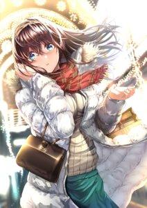 Rating: Safe Score: 24 Tags: nohito sagisawa_fumika sweater the_idolm@ster the_idolm@ster_cinderella_girls User: mash