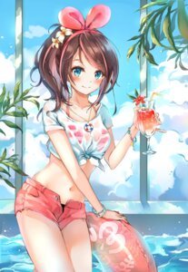 Rating: Safe Score: 55 Tags: a.i._channel bikini kizuna_ai munape see_through swimsuits wet_clothes User: Mr_GT