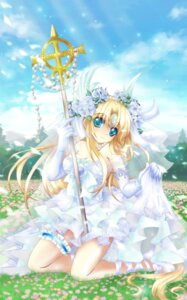 Rating: Safe Score: 23 Tags: cleavage dress garter riesz seiken_densetsu seiken_densetsu_3 shindou_hayato wedding_dress User: ddns001