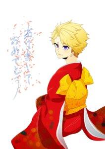 Rating: Safe Score: 6 Tags: crossdress ensemble_stars! kimono male narukami_arashi User: joshuagraham
