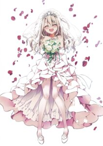 Rating: Questionable Score: 90 Tags: dress fate/kaleid_liner_prisma_illya fate/stay_night hiroyama_hiroshi illyasviel_von_einzbern stockings thighhighs wedding_dress User: h71337