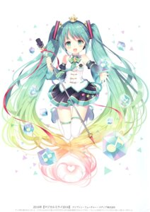 Rating: Questionable Score: 27 Tags: hatsune_miku headphones heels thighhighs vocaloid w.label wasabi_(artist) User: Radioactive