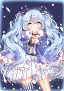 Rating: Safe Score: 26 Tags: chuo_zi dress fuyu_no_yoru_miku hatsune_miku thighhighs vocaloid User: Mr_GT