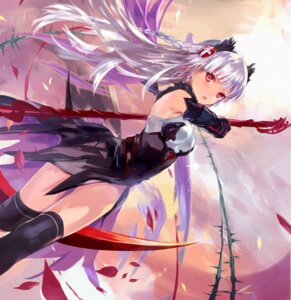 Rating: Questionable Score: 97 Tags: dress nove_(legge) princess_valkyrie puzzle_&_dragons thighhighs weapon User: fairyren