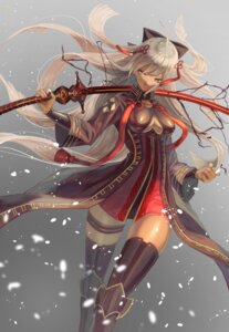Rating: Safe Score: 19 Tags: armor fate/grand_order garter majin_saber no_bra sword tagme thighhighs User: Nepcoheart