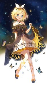 Rating: Safe Score: 65 Tags: dress kagamine_rin skirt_lift vocaloid yuna_(deadawon) User: Mr_GT