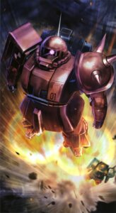 Rating: Safe Score: 4 Tags: gundam mecha mobile_suit_gundam ms-06_zaku_ii User: Radioactive