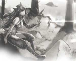 Rating: Safe Score: 32 Tags: animal_ears kojima_saya monochrome monster_hunter naruga User: dyj