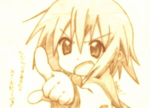 Rating: Safe Score: 6 Tags: godees kusakabe_misao lucky_star monochrome seifuku User: charunetra