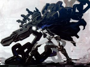 Rating: Safe Score: 23 Tags: black_rock_shooter black_rock_shooter_(character) chroma_of_wall saitom sword vocaloid User: midzki