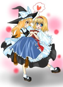 Rating: Safe Score: 5 Tags: alice_margatroid kirisame_marisa rukashima touhou User: Radioactive