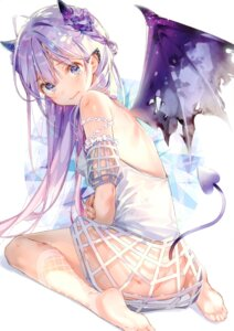 Rating: Questionable Score: 80 Tags: ass dsmile feet horns nopan tagme tail tsundere_is_love wings User: kiyoe
