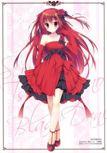 Rating: Questionable Score: 82 Tags: claire_rouge dress sakura_hanpen seirei_tsukai_no_blade_dance User: Twinsenzw