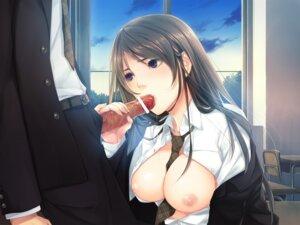 Rating: Explicit Score: 42 Tags: breasts censored fellatio nipples open_shirt penis porigon wallpaper User: blooregardo
