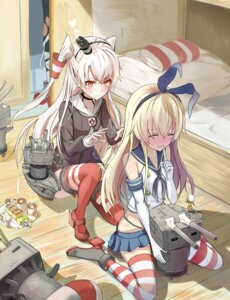 Rating: Safe Score: 83 Tags: amatsukaze_(kancolle) bakatesu59 kantai_collection rensouhou-chan rensouhou-kun shimakaze_(kancolle) thighhighs User: tbchyu001