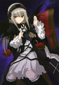 Rating: Safe Score: 50 Tags: gothic_lolita lolita_fashion morimoto_hirofumi rozen_maiden suigintou wings User: drop
