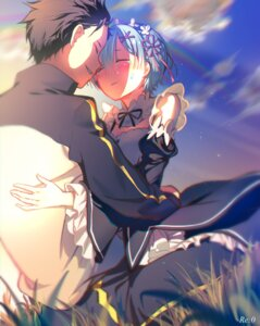Rating: Safe Score: 40 Tags: cleavage e=mc² maid natsuki_subaru re_zero_kara_hajimeru_isekai_seikatsu rem_(re_zero) User: Mr_GT