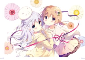 Rating: Questionable Score: 50 Tags: digital_version gochuumon_wa_usagi_desu_ka? hoto_cocoa kafuu_chino shiratama tippy_(gochuumon_wa_usagi_desu_ka?) User: Twinsenzw