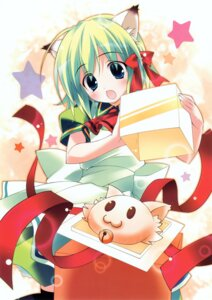 Rating: Safe Score: 18 Tags: animal_ears greenwood midori nekomimi sakana User: midzki