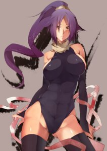 Rating: Questionable Score: 109 Tags: bleach cameltoe erect_nipples leotard nanao shihouin_yoruichi thighhighs User: Syko83