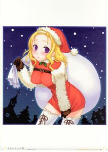 Rating: Safe Score: 12 Tags: amanatsu christmas ginta sophia_yukari_misima thighhighs User: Radioactive