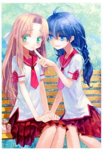 Rating: Safe Score: 19 Tags: kinta seifuku yuri User: fireattack