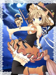 Rating: Safe Score: 28 Tags: animal_ears halloween hanabana_tsubomi neko nekomimi thighhighs witch User: Shamensyth