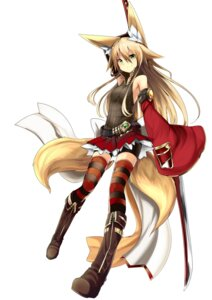 Rating: Safe Score: 81 Tags: animal_ears bike_shorts haik kitsune sword tail thighhighs User: tbchyu001