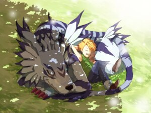 Rating: Safe Score: 16 Tags: ceal-sakura-ai digimon garurumon ishida_yamato male monster User: charunetra