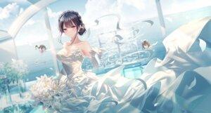 Rating: Safe Score: 61 Tags: cleavage dress junpaku_karen makinohara_shouko no_bra seishun_buta_yarou_series skirt_lift wedding_dress User: Mr_GT