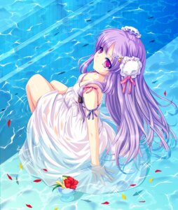 Rating: Safe Score: 45 Tags: cetera cleavage dress patchouli_knowledge summer_dress touhou User: Mr_GT