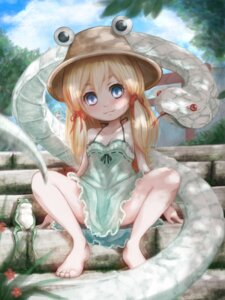Rating: Questionable Score: 34 Tags: dress hoshibuchi kochiya_sanae loli mishaguji moriya_suwako summer_dress touhou User: Mr_GT