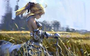 Rating: Safe Score: 24 Tags: armor fate/grand_order saber saber_lily sword wlop User: kulipator