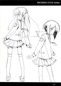 Rating: Safe Score: 1 Tags: monochrome nekoyashiki sasaki_mutsumi seifuku sketch thighhighs User: noirblack