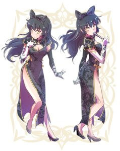 Rating: Safe Score: 41 Tags: blake_belladonna chinadress cleavage heels iesupa rwby User: saemonnokami