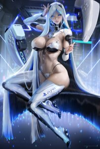 Rating: Questionable Score: 61 Tags: bikini_armor mecha_musume os-tan ps5-tan sakimichan thighhighs User: BattlequeenYume