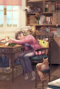 Rating: Safe Score: 32 Tags: ed_(chibied) neko pajama sweater User: Mr_GT
