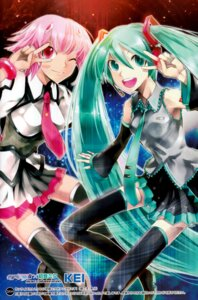 Rating: Safe Score: 10 Tags: hatsune_miku kei shishidou_akiha sora_wo_kakeru_shoujo thighhighs vocaloid User: Share