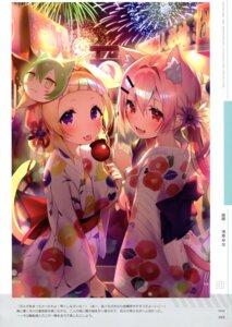 Rating: Questionable Score: 11 Tags: akashi_(azur_lane) animal_ears ariake_(azur_lane) asagi_yuna azur_lane hatsushimo_(azur_lane) tail yukata User: kiyoe