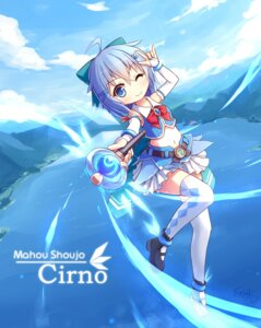 Rating: Safe Score: 28 Tags: cirno langbazi thighhighs touhou wings User: Mr_GT