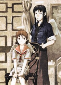Rating: Safe Score: 5 Tags: abe_yoshitoshi haibane_renmei rakka reki_(haibane_renmei) smoking wings User: Davison