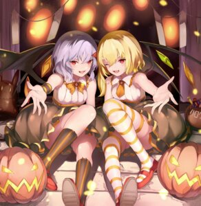 Rating: Safe Score: 56 Tags: eredhen flandre_scarlet halloween remilia_scarlet thighhighs touhou wings User: Mr_GT