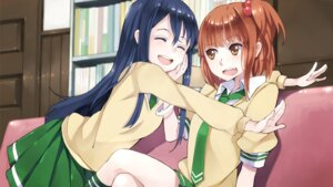 Rating: Safe Score: 23 Tags: hao_(patinnko) kurahashi_riko love_lab maki_natsuo seifuku User: Radioactive