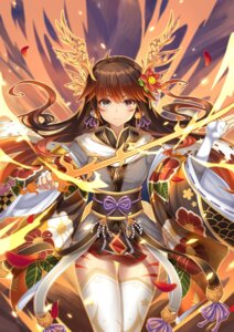 Rating: Safe Score: 57 Tags: japanese_clothes kuta_(shi_cai) puzzle_&_dragons sword tattoo thighhighs tsubaki_(puzzle_&_dragons) User: Mr_GT