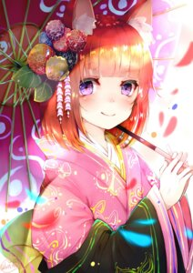 Rating: Safe Score: 53 Tags: animal_ears chita_(ketchup) japanese_clothes umbrella User: Mr_GT