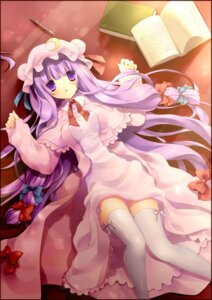 Rating: Safe Score: 20 Tags: nozumi patchouli_knowledge thighhighs touhou User: charunetra