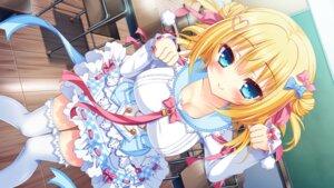 Rating: Safe Score: 50 Tags: chelseasoft cleavage game_cg koi_wa_yumemiru_mouretsu_girl! nae-nae seifuku thighhighs yoshioka_aoi User: donicila